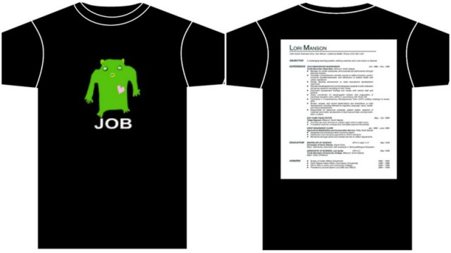Razblint - Tshirt Designs - Monster Resume Tshirt for a job