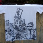 Drawn Shirt, City Scene for Aimee