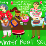 Drawn Recipe: Winter Root Soup
