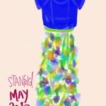 Spring skirt flowers