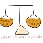 Drawn Evidence: Prejudice-Probativeness Balancing