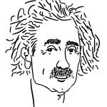 Einstein doodle sketch