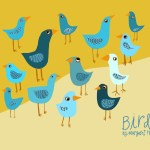 Birds in Blues