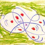 3 Green Line Drawings