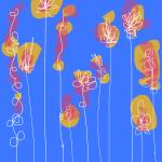 Line flower sketches