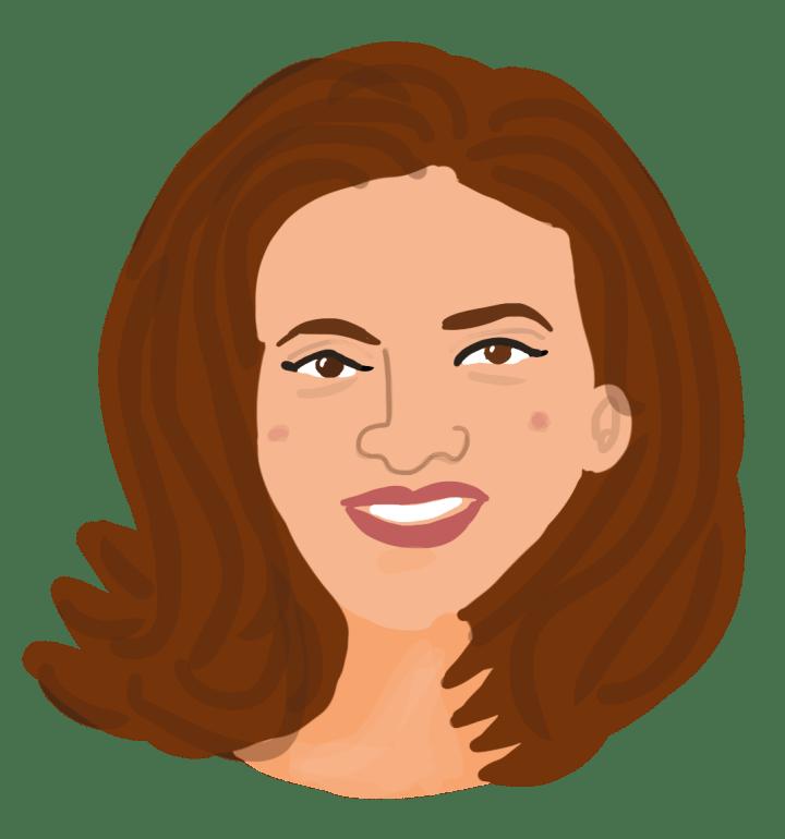 Sheryl Sandberg head portrait