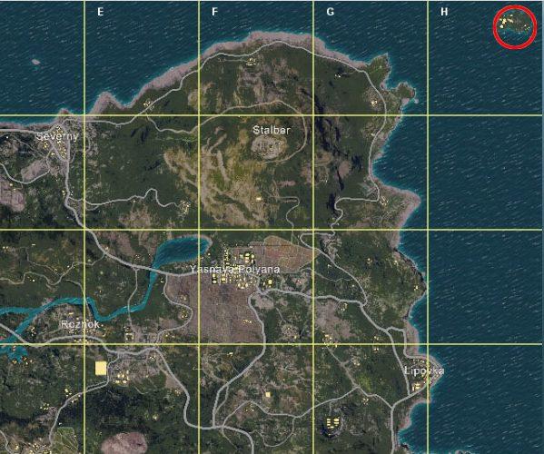 右上の島が待機場所