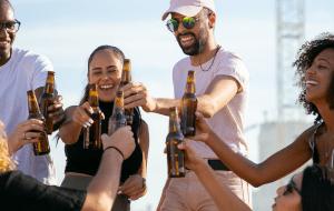 friends having beer