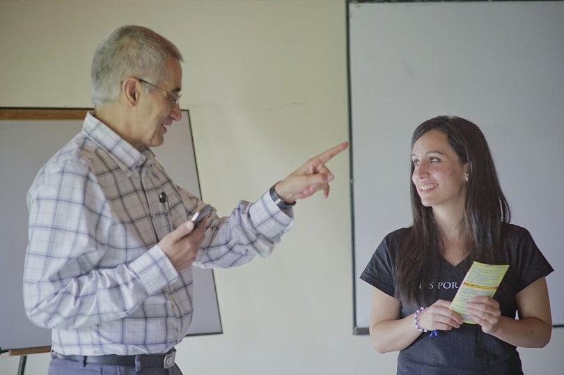 Pamela Delgado con Jorge Serrano, creador de los CAM en México / Cortesía: 40 Días por la Vida.