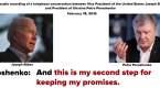 Biden call with Poroshenko