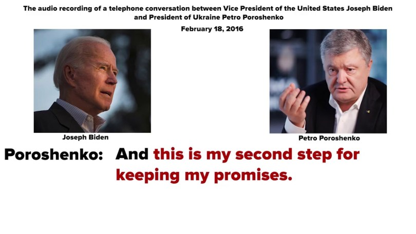 Biden call with Poroshenko