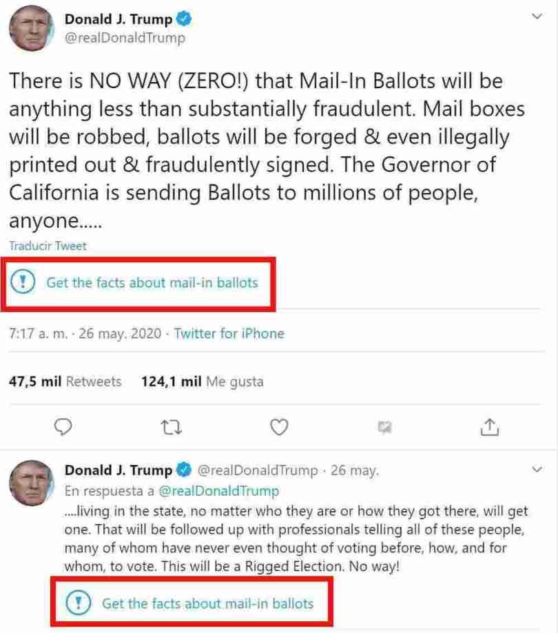 Trump mail ballots