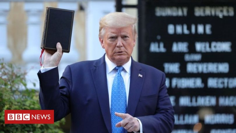 Trump respalda iglesia