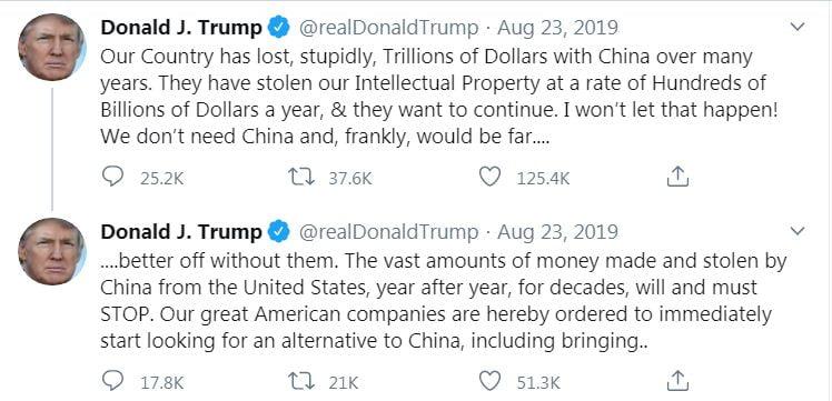 trump on china