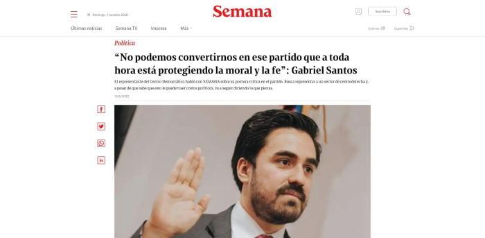 Gabriel Santos progresismo anticristiano