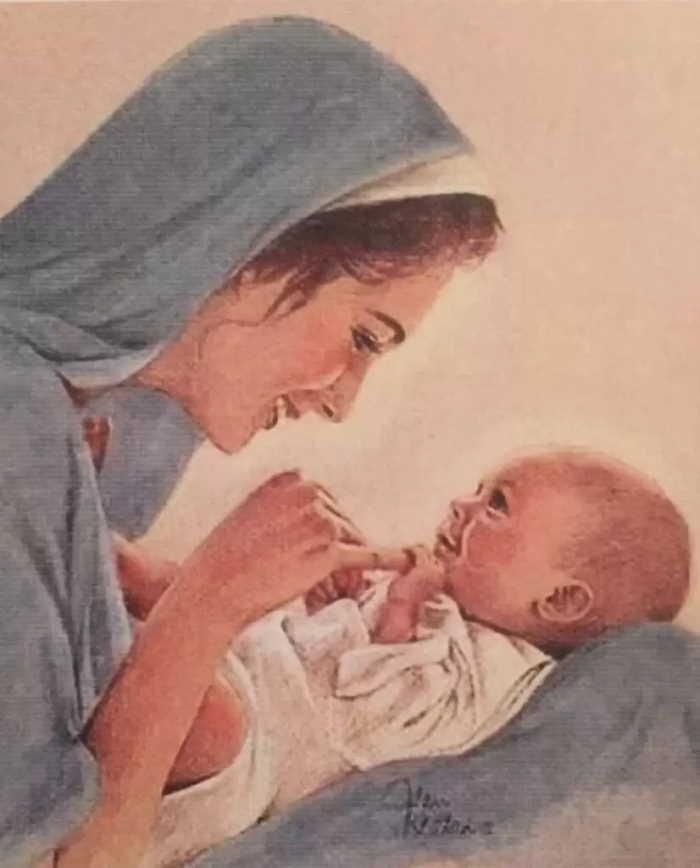 Maria y el Nino Jesus