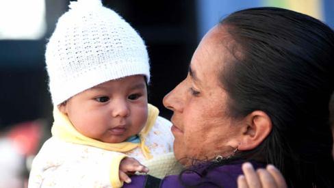 Madre boliviana en su dia