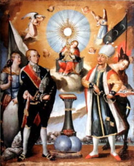 Carlos IV como defensor de la Eucaristia