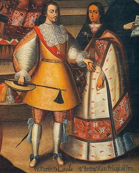 Martin de Loyola y Beatriz Nusta princesa del Peru