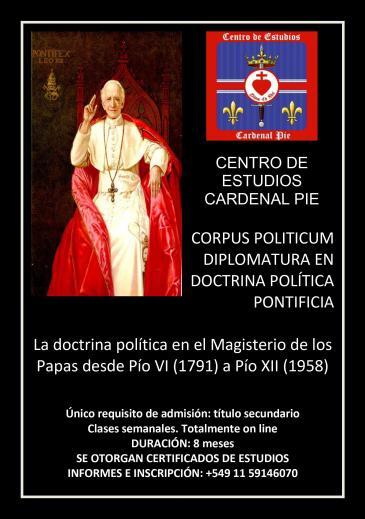 Diplomatura en Doctrina Política Pontificia