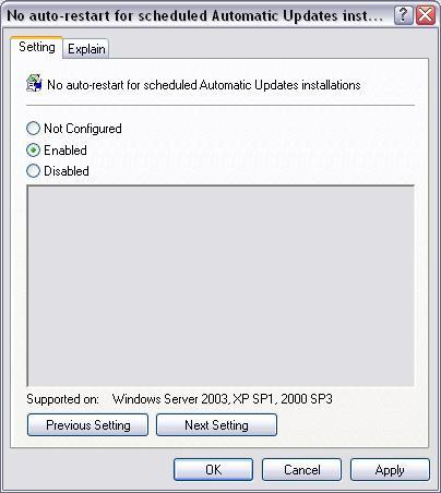 Set to enabled
