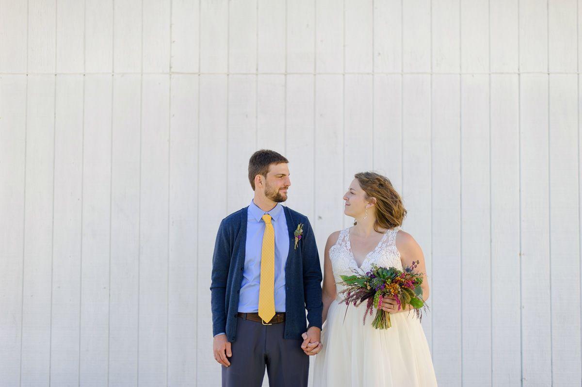 Bride and Groom photos atSutliff Cider