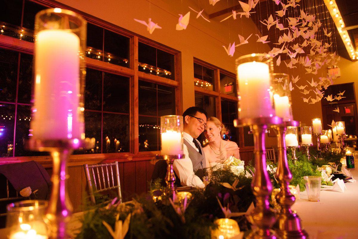bride and groom at cedar ridge vinery