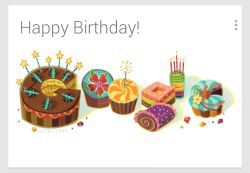 Google Now Birthday Cards