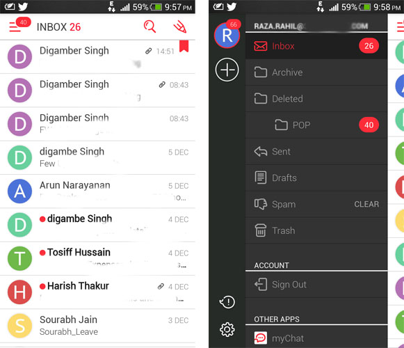myMail Email client for Android