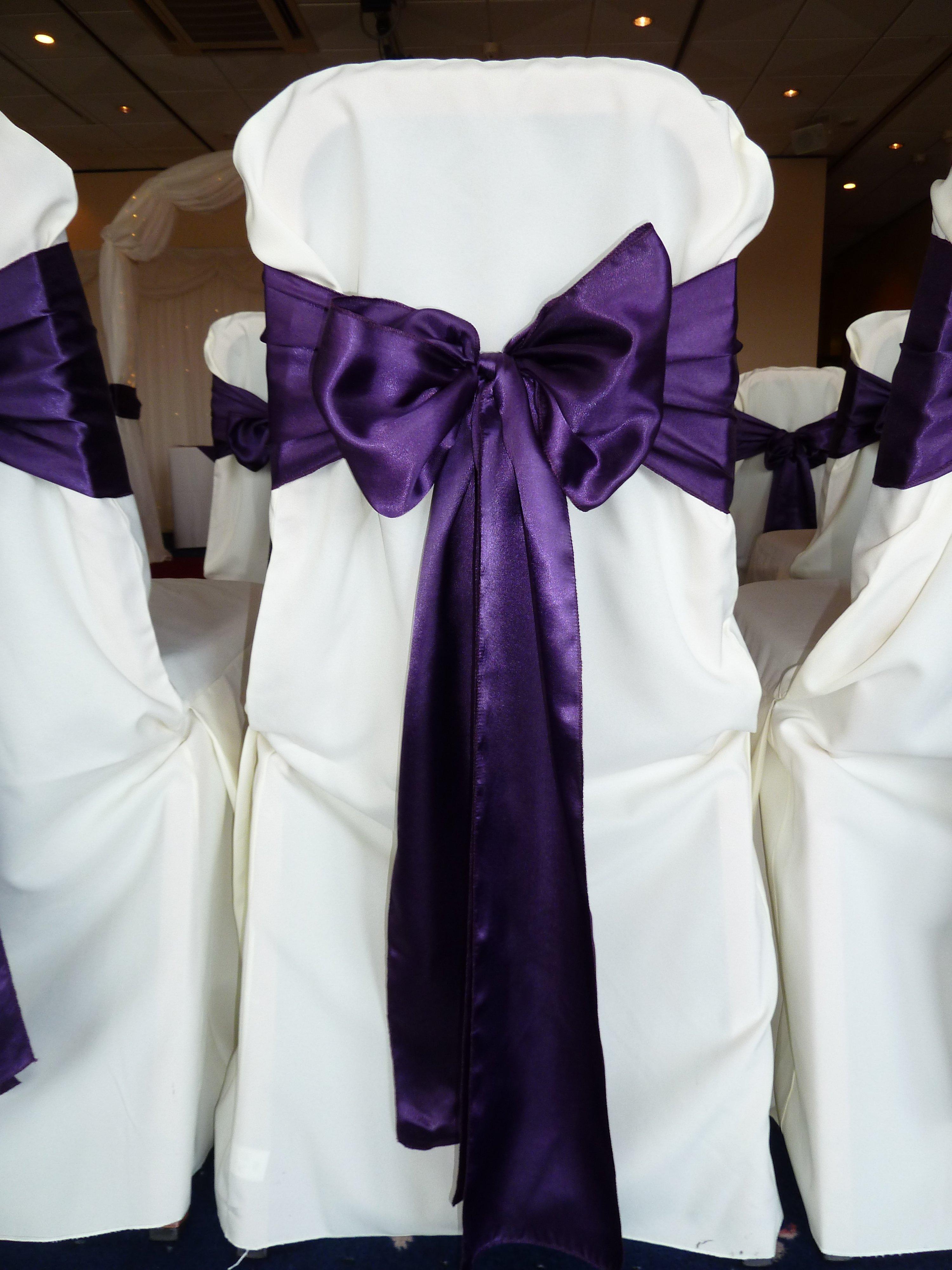 chair covers morecambe mac sports folding a cadbury purple themed wedding razzle dazzle