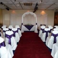 Chair Covers Morecambe 4moms High Target A Cadbury Purple Themed Wedding Razzle Dazzle