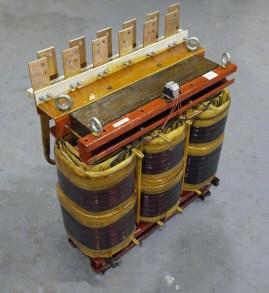 Three phase transformer rewind