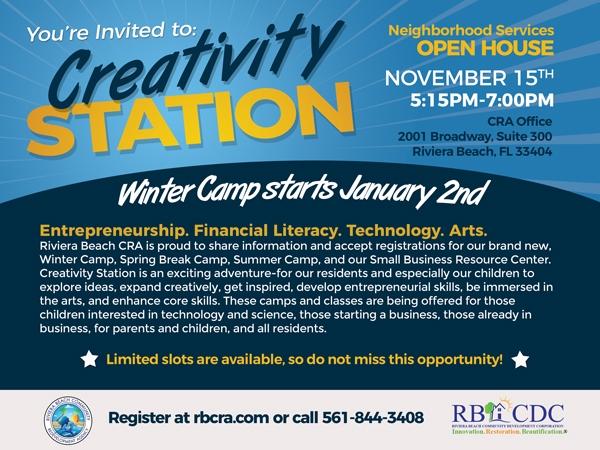 creativity Station invitation
