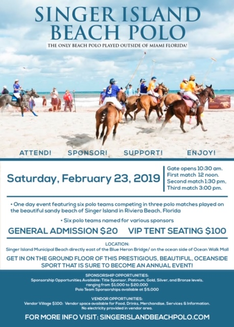 Singer Island Beach Polo Flyer