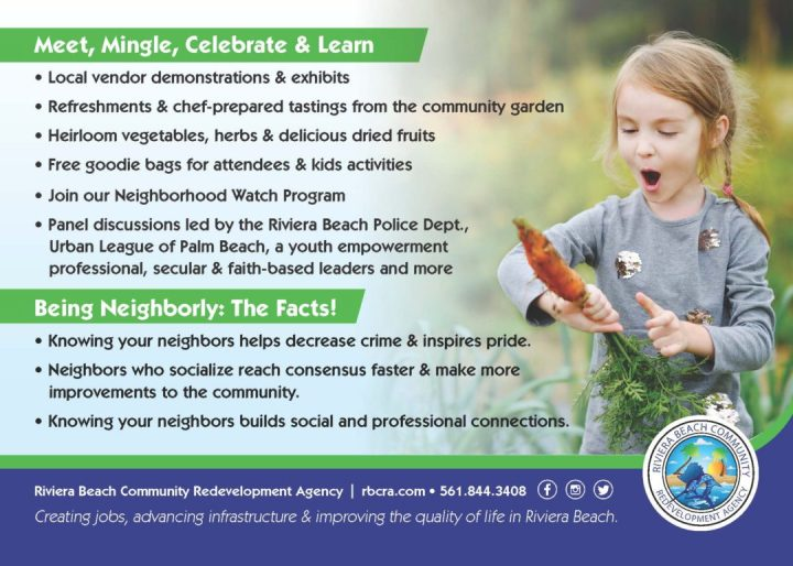Neighborhood Day 2019 Riviera Beach Community Garden - Gather in the Garden Celebration