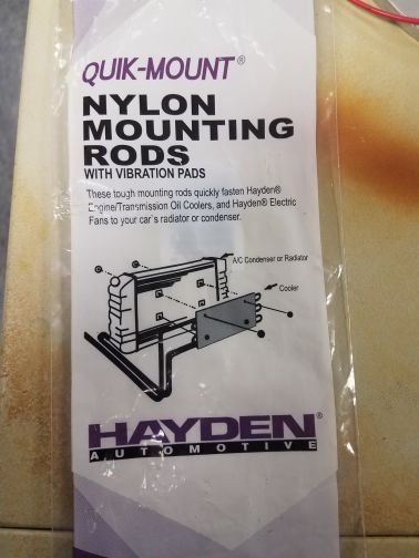 Nylon mounting rods