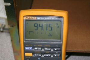 94 V DC on DVM