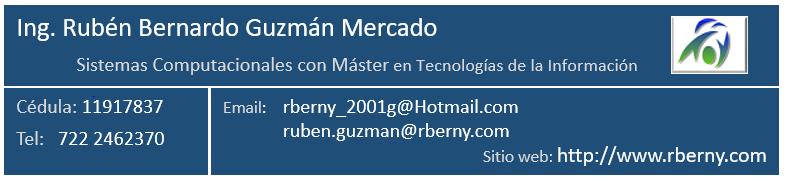 Firma 2021 Rberny - Ing. Rubén Bernardo Guzmán Mercado