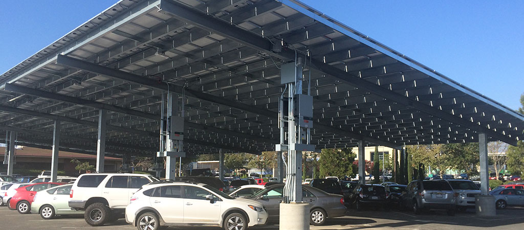 RBI Solar Carport Structures  Steel Frame Solar Canopies