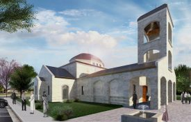 A rendering of the new church proposed for St. Nikola Serbian Orthodox Parish in Brookfield. (Courtesy of architect Petko Petrovich, Accolade Design Inc.)