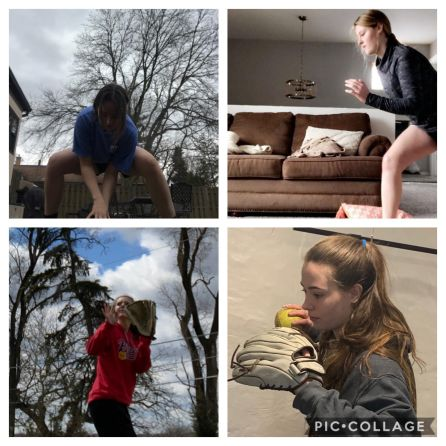 LTHS' softball team has kept things interesting by doing virtual challenges with one another, including Tuesday Trivia (photo provided by Nikki Marinec)