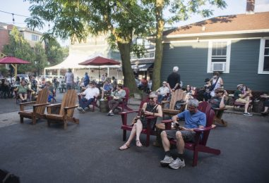 Guests sit and listen to live jazz music on Aug. 8, at Fitzgeralds on Roosevelt Road in Berwyn. (Alex Rogals/Staff Photographer)