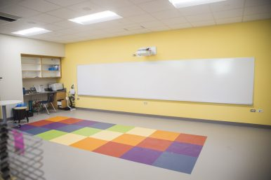 The new art classroom is seen on Sept. 2, at A.F. Ames Elementary School in Riverside. (Alex Rogals/Staff Photographer)