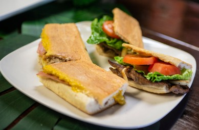 Sandwiches are a menu favorite at Cafe Media Noche/Rogals