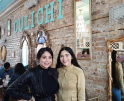 Close knit sisters, Yancy (left) and Estefany Garcia bring their love of girly things to life at Crepas Culichi