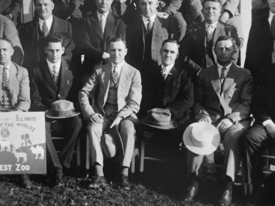 Booster: Arthur Huebsch (center) shown here in a 1927 photo with the Kiwanis Club, was a cheerleader for the construction of Brookfield Zoo. He became a trustee of the Chicago Zoological Society in 1929.Photos courtesy CHRIS STACH