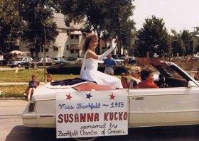 Susanna Kucksz rides in the Fourth of July parade in 1985.Photo courtesy of Susanna Kucko Krokosz