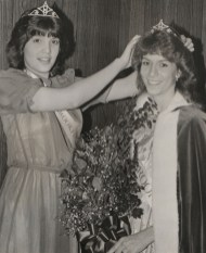 Miss Brookfield 1983, Cheryl Eckart, crowns Miss Brookfield 1984, Mary Vanek