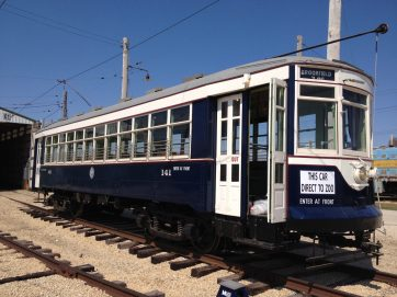 According to Frank Sirinek, who led the restoration effort, it cost about 00,000 to bring Car 141 back to life as a fully functioning streetcar. Parts were obtained from around the world throughout the past three decades. On June 1, the restored streetcar will be dedicated at the Illinois Railway Museum, where people will again be able to take a ride aboard it. (Photo by Bob Uphues)