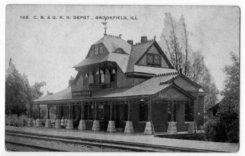 """The Grossdale depot opened in 1889 and was billed in a newspaper advertisement at the time as """"the finest suburban station on the CB&Q"""" line. (Courtesy Chris Stach collection)"""